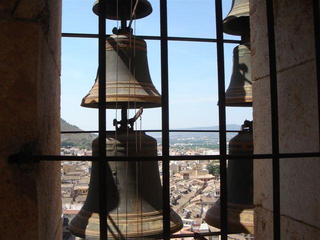 Carillón del campanario de la colegiata basílica de santa María de Xàtiva