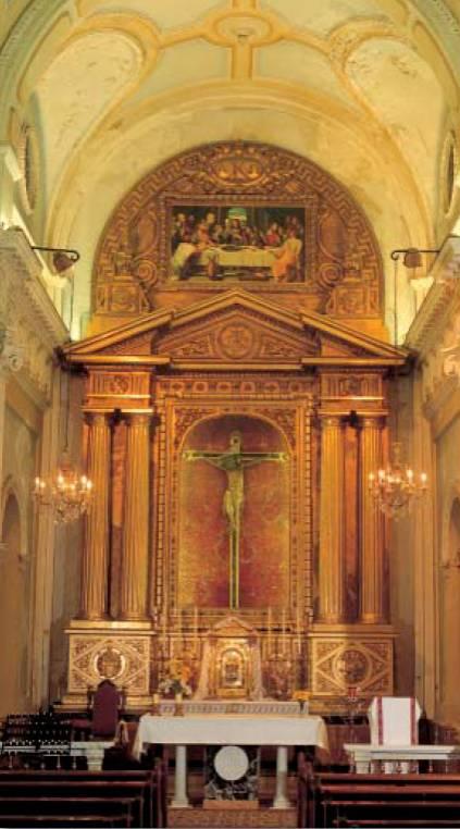 Cristo del Carmen. En la Iglesia Colegial Basílica de Santa María de Xàtiva